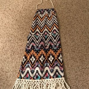 Other - ❤️Halter style swim coverup tribal with fringe